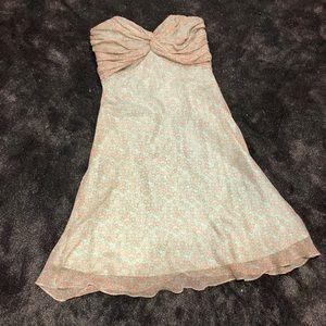 Shoshanna silk strapless dress